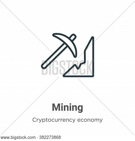 Mining icon isolated on white background from mining collection. Mining icon trendy and modern Minin