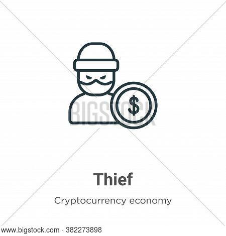 Thief icon isolated on white background from blockchain collection. Thief icon trendy and modern Thi