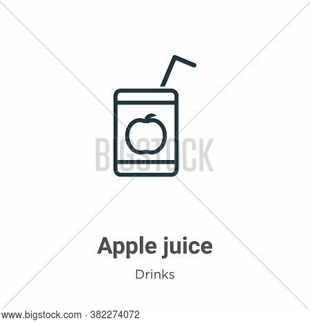 Apple juice icon isolated on white background from drinks collection. Apple juice icon trendy and mo