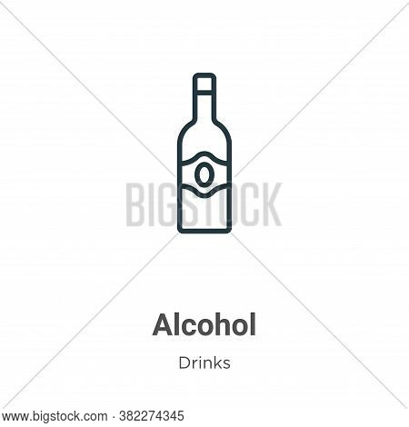Alcohol icon isolated on white background from drinks collection. Alcohol icon trendy and modern Alc