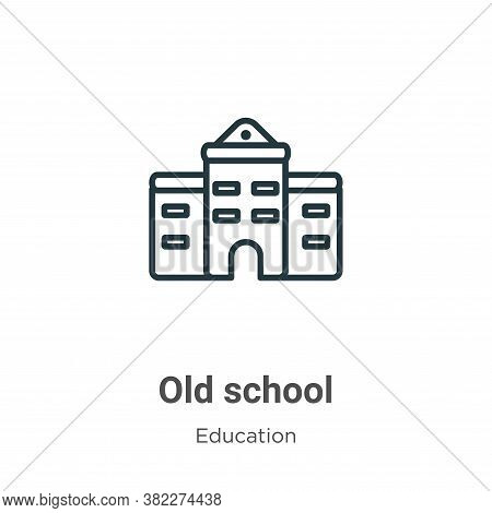 Old school icon isolated on white background from education collection. Old school icon trendy and m