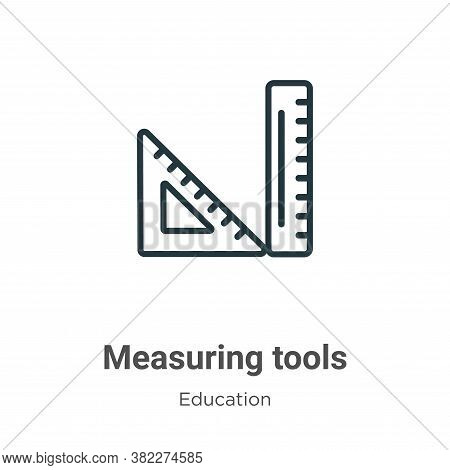 Measuring tools icon isolated on white background from education collection. Measuring tools icon tr