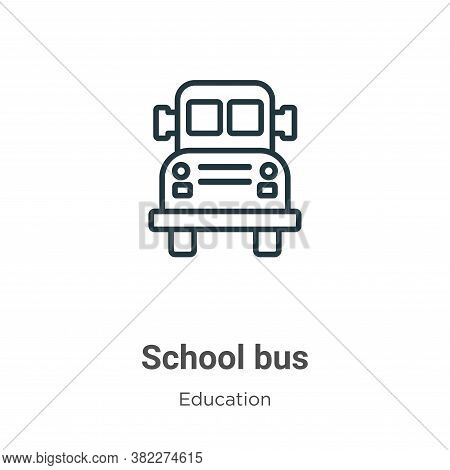 School bus icon isolated on white background from education collection. School bus icon trendy and m