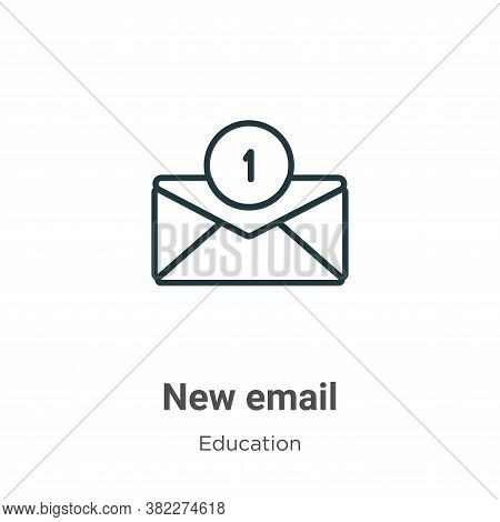 New email icon isolated on white background from education collection. New email icon trendy and mod