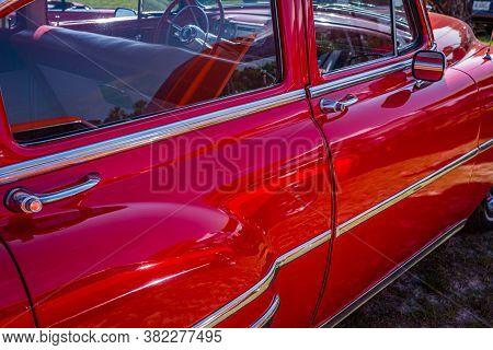 Savannah, Ga / Usa - April 21, 2018: 1953 Chevrolet 210 Sedan At A Car Show In Savannah, Georgia.