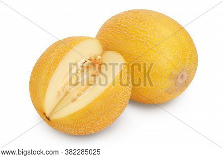 Melon Isolated On White Background With Clipping Path And Full Depth Of Field