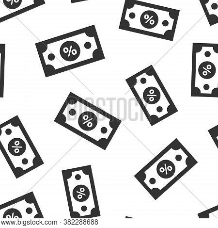 Dollar Currency Banknote Icon In Flat Style. Dollar Cash Discount Vector Illustration On White Isola