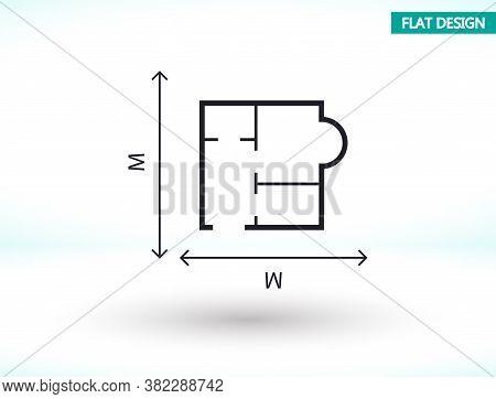 House Size Iconvector Icon , Lorem Ipsum Flat Design