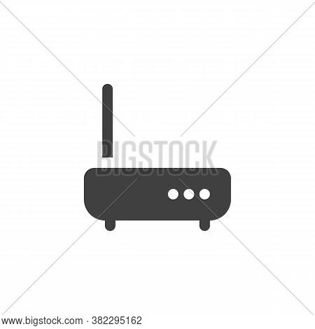 Wifi Modem Vector Icon. Filled Flat Sign For Mobile Concept And Web Design. Wireless Router Glyph Ic