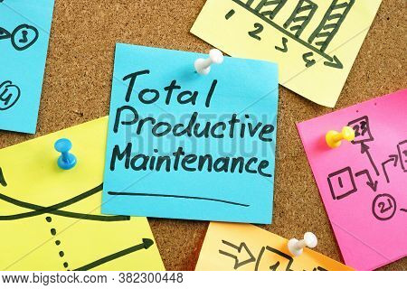 Total Productive Maintenance Tpm On The Blue Memo Stick.