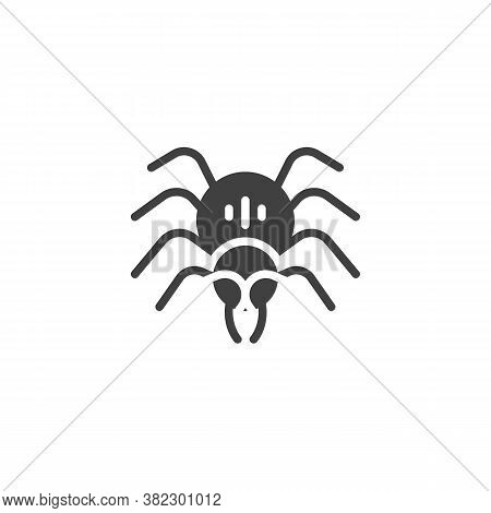 Halloween Spider Vector Icon. Filled Flat Sign For Mobile Concept And Web Design. Spider, Arachnid G