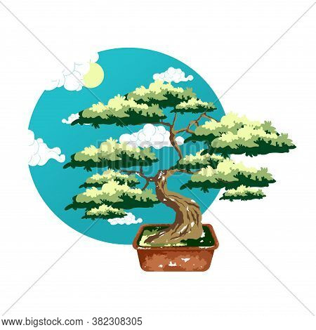 Bonsai Tree Pot Vector Photo Free Trial Bigstock Illustration about cartoon forest trees, bushes, hedges and rocks. bigstock