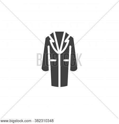 Trendy Stylish Coat Vector Icon. Filled Flat Sign For Mobile Concept And Web Design. Coat With Colla