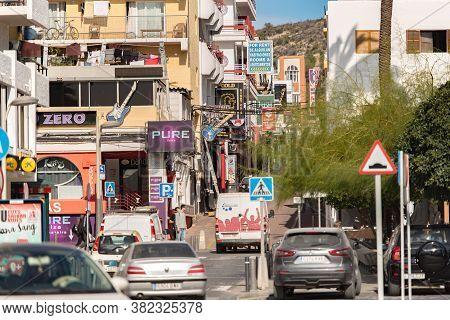 Sant Antoni De Portmany, Ibiza, Spain : Nov 8 2019 : Sunny Day In The Port Of Sant Antoni De Portman