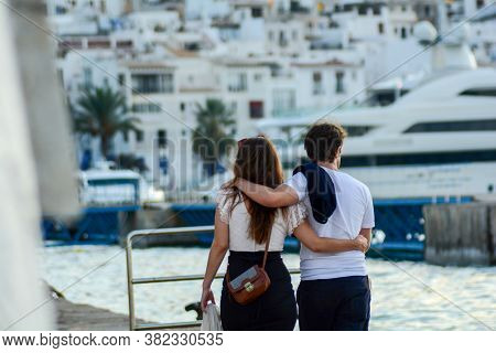 Ibiza Old Town, Called Dalt Vila. Ibiza Is One Of The Balearic Islands That Are Located In The Medit