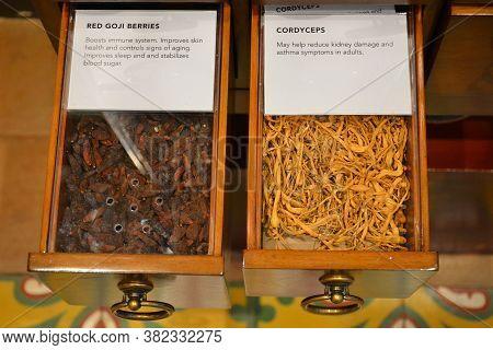 Manila, Ph - Jan 3 - Botica De San Fernando Herbal Medicines Display At Chinatown Museum On January