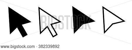 Cursor Mouse Pointer Icon Vector Illustration. Pointer Cursor Icons. Web Arrows Cursors. Cursor Clic