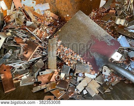 Electrolytic Copper Scrap Ready To Be Recycled