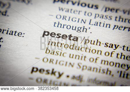 Word Or Phrase Peseta In A Dictionary