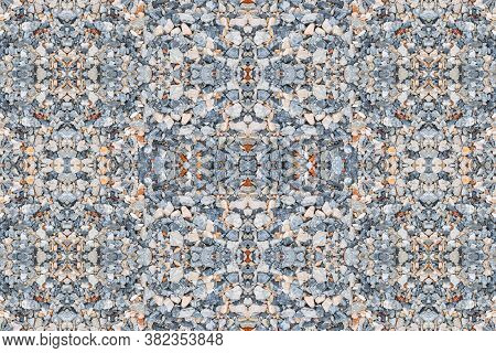 Stone Small Gravel Floor Seamless Abstract Background