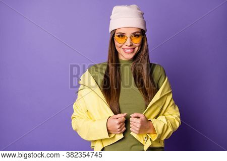 Close-up Portrait Of Nice Attractive Lovely Fashionable Pretty Cute Fascinating Cheerful Cheery Girl