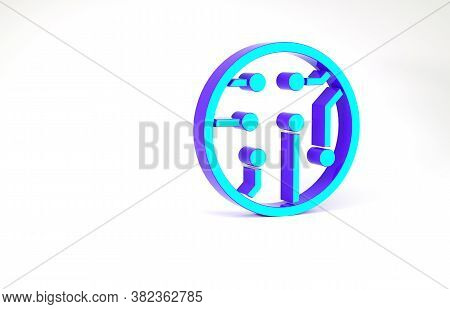 Turquoise Processor Icon Isolated On White Background. Cpu, Central Processing Unit, Microchip, Micr