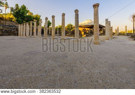 View Of The Remains Of The Western Bathhouse, In The Ancient Roman-byzantine City Of Bet Shean (nysa