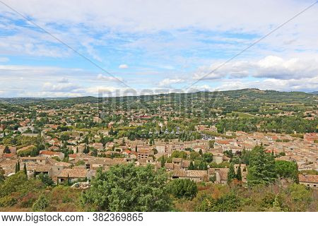 Looking Down On The Town Of Vaison La Romaine, France