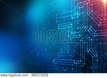 Technology In Business. Artificial Intelligence And Machine Learning Concept. Future Of Digital Scie