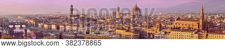 Beautifull Panoramic Shoot Of Florence From Michelangelo's Square