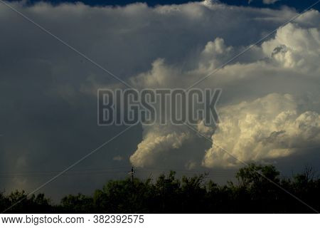 Thunder Clouds Building Over The Texas Panhandle At Greenbelt Lake.