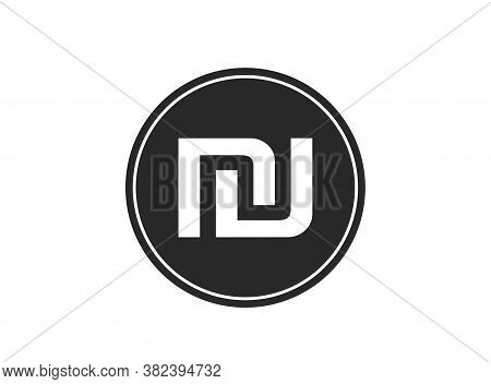 Israeli Shekel Coin Icon. Isolated Vector Money Symbol. Simple Style Finance Infographic Element And
