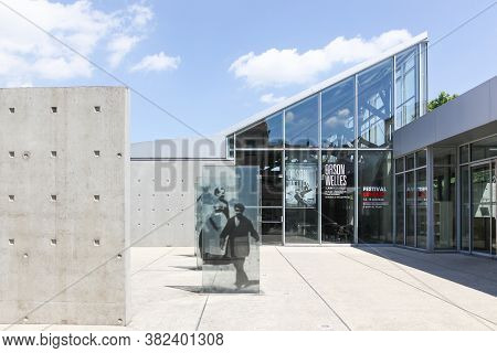 Lyon, France - June 2, 2015: Building In Lyon Where Was Made The First Movie By Auguste And Louis Lu