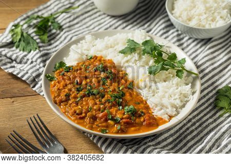 Homemade Spicy Indian Curry Lentils