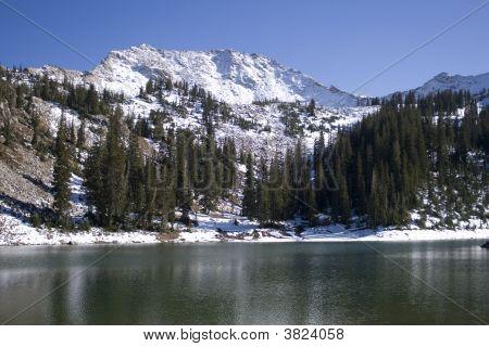 Trees, Lake, And Mountain In Utah