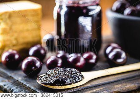 Jabuticaba Jelly, Organic, Homemade, With Exotic Brazilian Fruit. The Jaboticaba (or Jabuticaba) Is