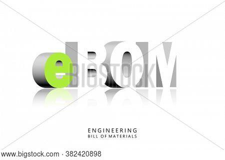 3D illustration of engineering bill of materials concept