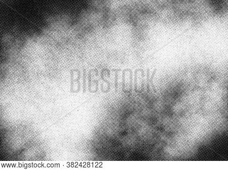 Subtle Halftone Vector Texture Overlay. Monochrome Abstract Splattered Background.
