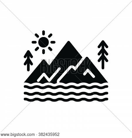 Black Solid Icon For Valley Plaintiff Pursuer Bottomland Canyon Basin Vale Dingle Forest Nature Gree