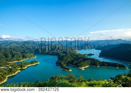 Landscape Of Thousand Island Lake In Shiding