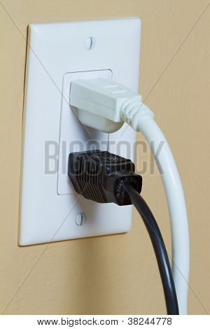 Electrical Outlet With Two Cable