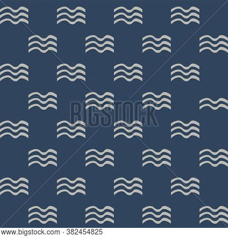 Waves. Maritime Seamless Pattern. Vector Illustration  Print For Fashion, Cover And Paper
