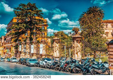 Rome, Italy- May 10, 2017: Barberini Palace (palazzo Barberini ) .palazzo Barberini  Is A 17Th-centu