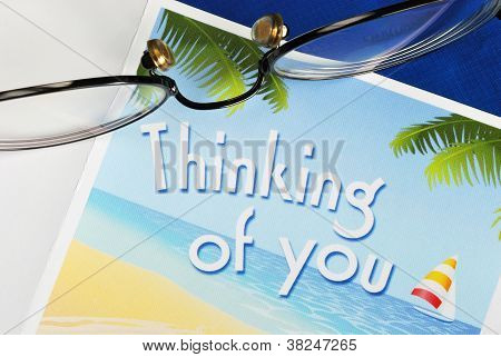 Thinking of You concepts of caring and thoughtfulness