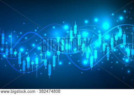 Stock Market Or Forex Trading Graph. Chart In Financial Market Illustration Abstract Finance Backgro
