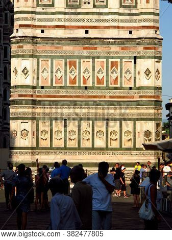 Florence, Italy - 13 Jul 2011: Giotto Bell Tower, Florence Cathedral, Italy