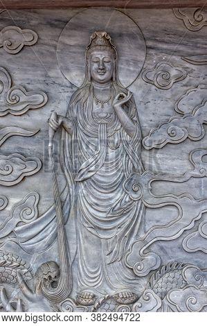 Bas Relief Of  The Bodhisattva Avalokiteśvara (or The Goddess Of Mercy), Da Nang, Vietnam