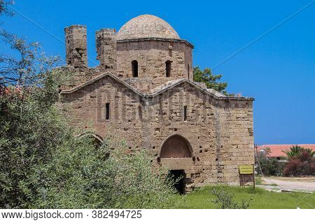 The Ruins Of A Small Christian Chapel Of St. Nicholas From The 14th Century In The City Of Famagusta