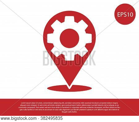 Red Car Service Icon Isolated On White Background. Auto Mechanic Service. Repair Service Auto Mechan