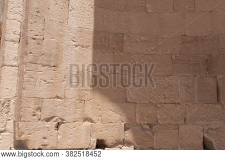 The South Church In Ruins Of Shivta - A National Park In Southern Israel, Includes The Ruins Of An A
